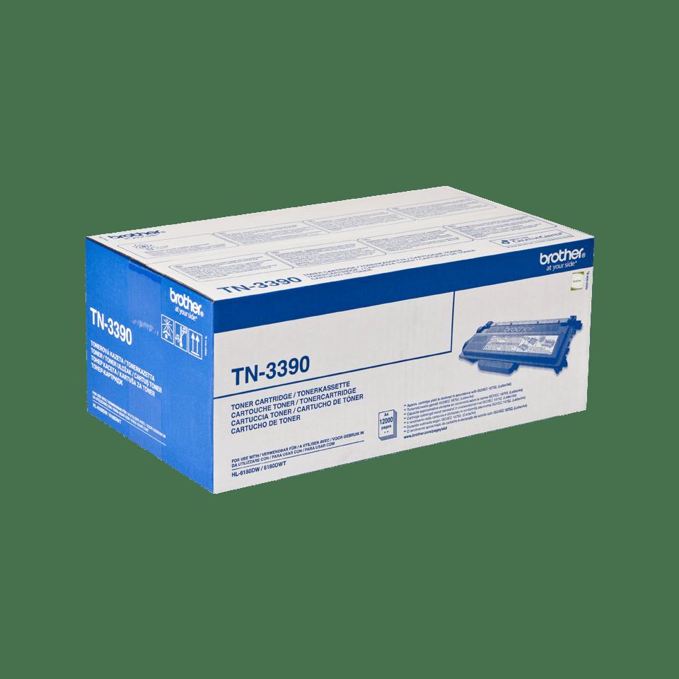 Brother TN-3390 original tonerkassett med hög kapacitet - Svart 2