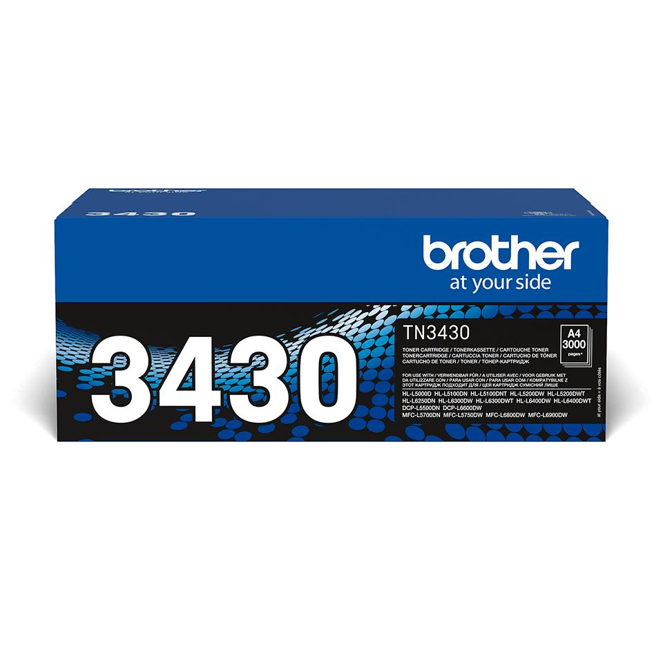 Brother original TN3430 tonerkassett – Svart