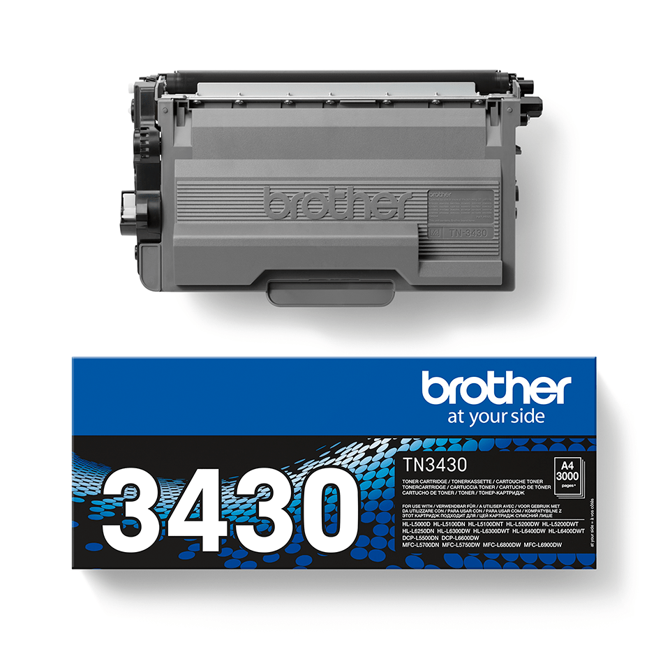 Brother original TN3430 tonerkassett – Svart 2