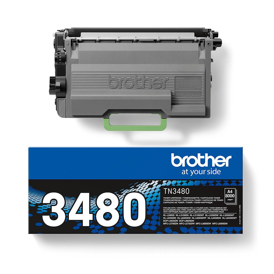 Brother original TN3480 tonerkassett – Svart 2