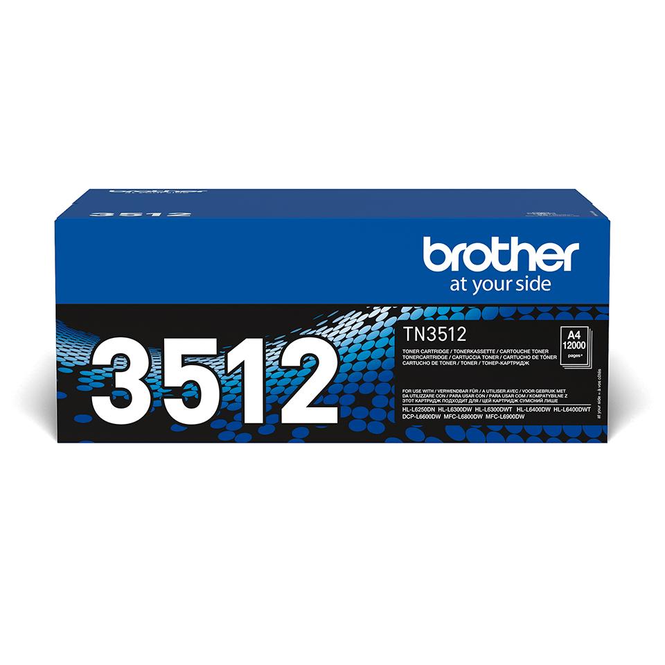 Brother original TN3512 tonerkassett hög kapacitet – svart