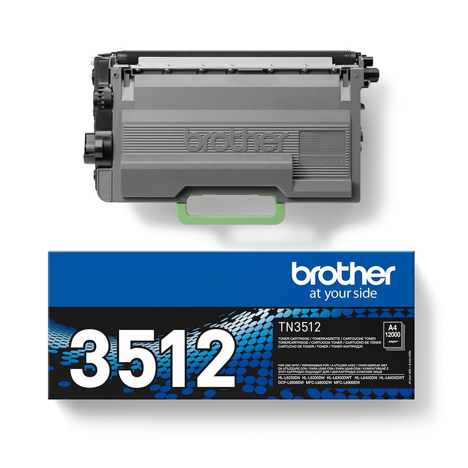 Brother original TN3512 tonerkassett hög kapacitet – svart 2