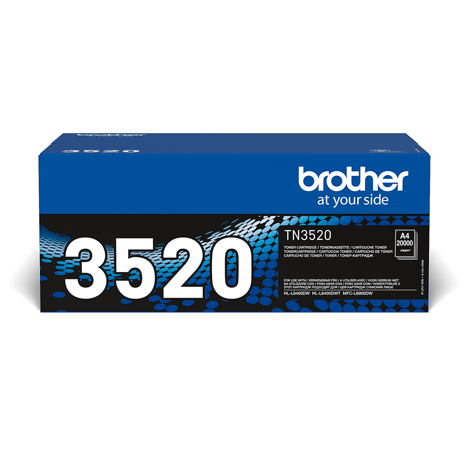 Brother TN3520 original högkapacitets tonerkassett – Svart