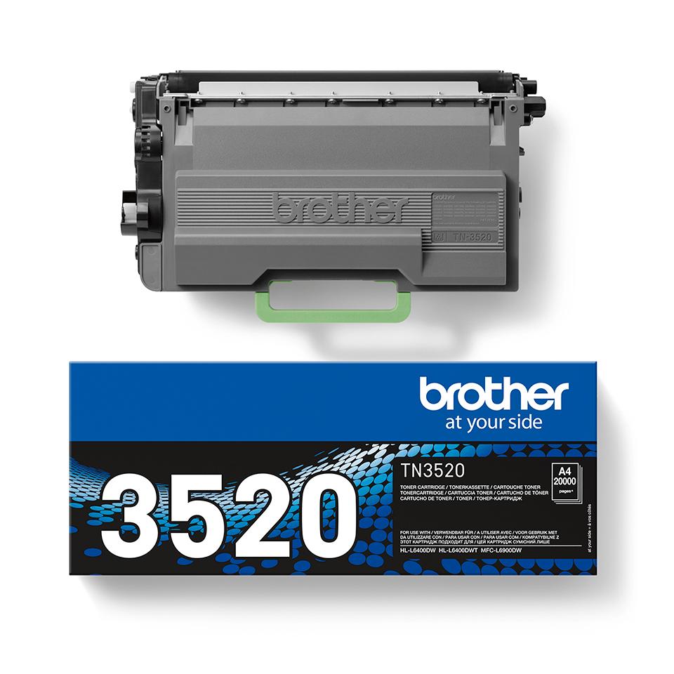 Brother TN3520 original högkapacitets tonerkassett – Svart 2