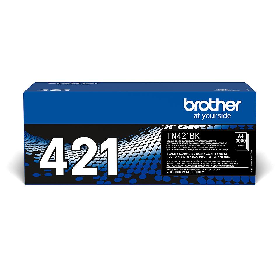 Brother original TN421BK tonerkassett – Svart