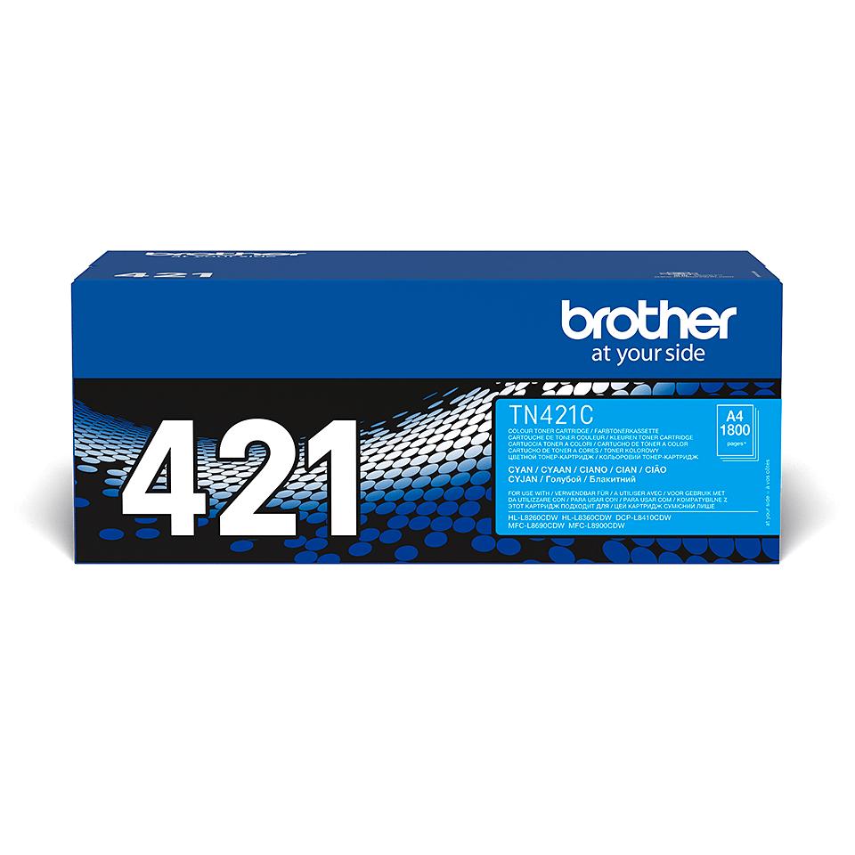 Brother original TN421C tonerkassett – Cyan