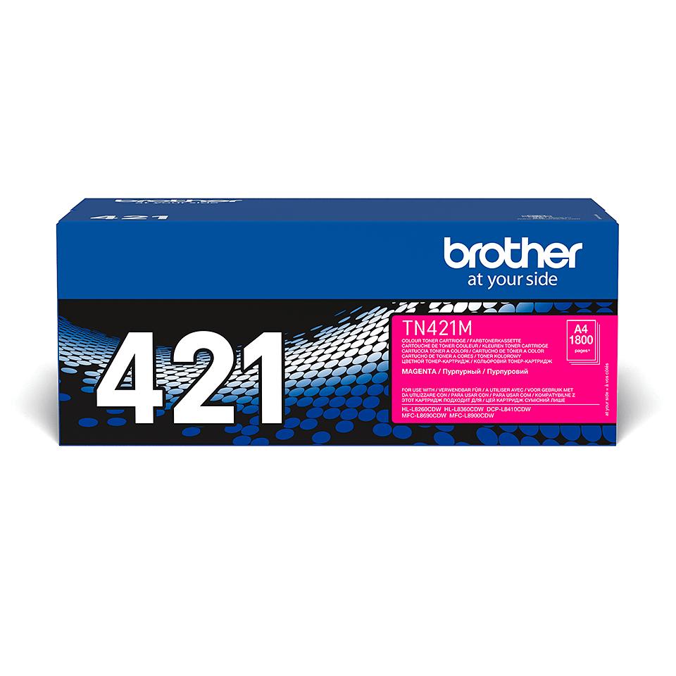 Brother original TN421M tonerkassett – Magenta
