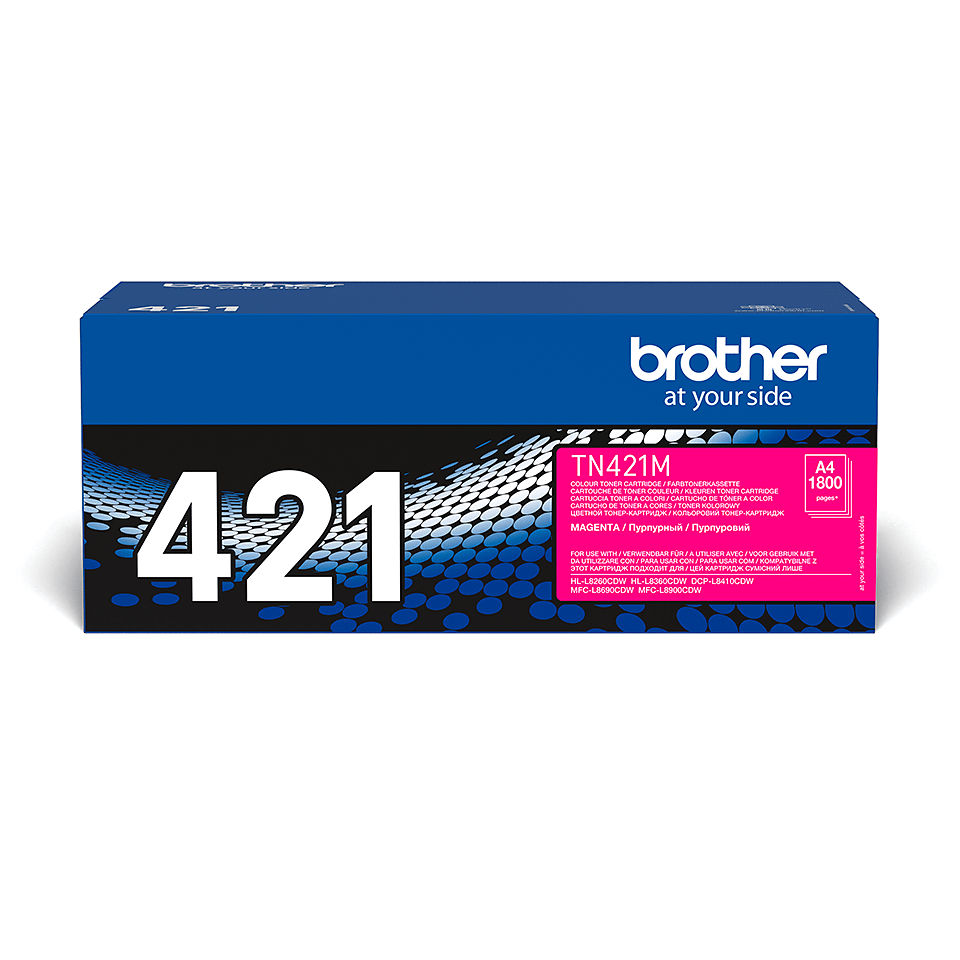 Brother original TN421M tonerkassett – Magenta 2