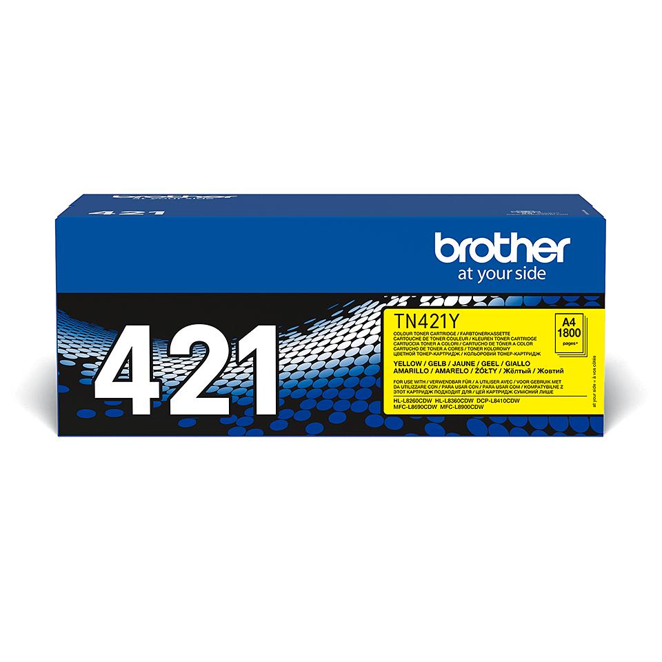 Brother original TN421Y tonerkassett – Gul 2