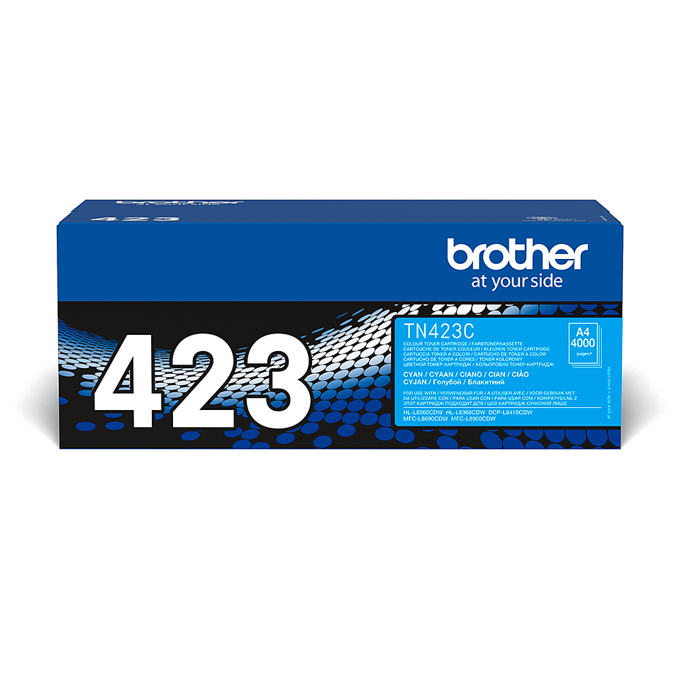Brother original TN423C tonerkassett – cyan