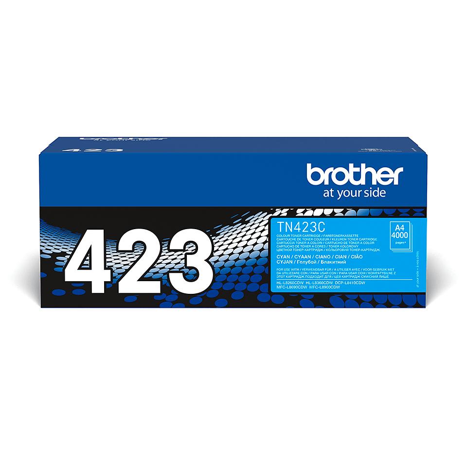 Brother original TN423C tonerkassett – cyan