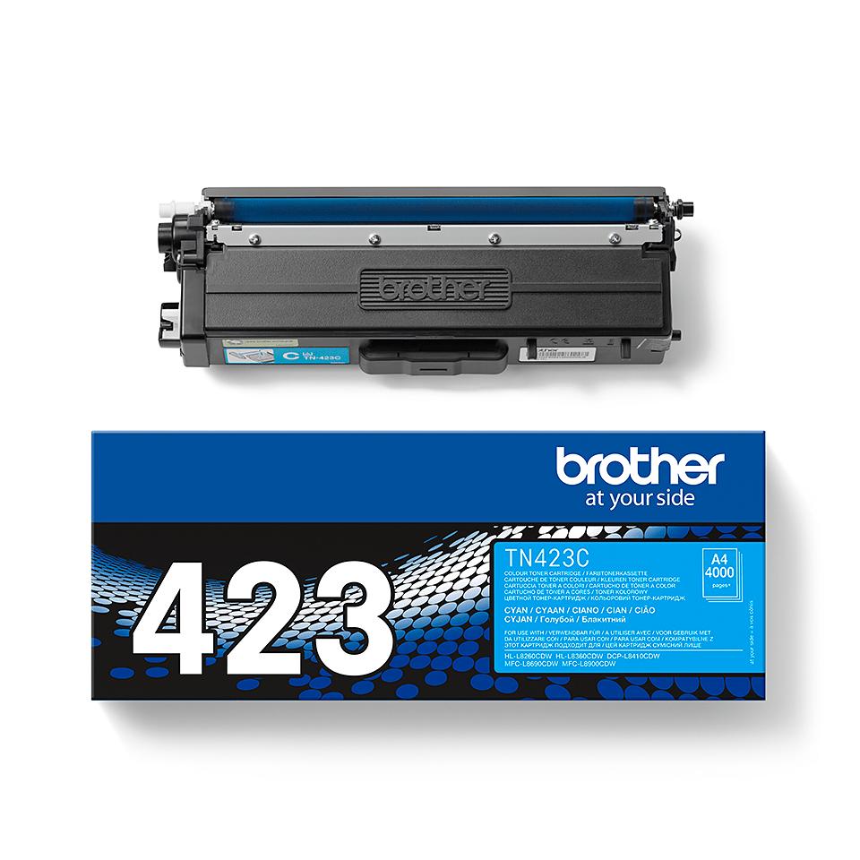 Brother original TN423C tonerkassett – cyan 2