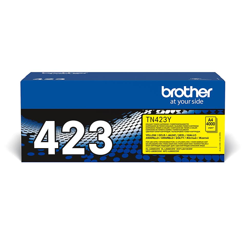 Brother original TN423Y tonerkassett – gul