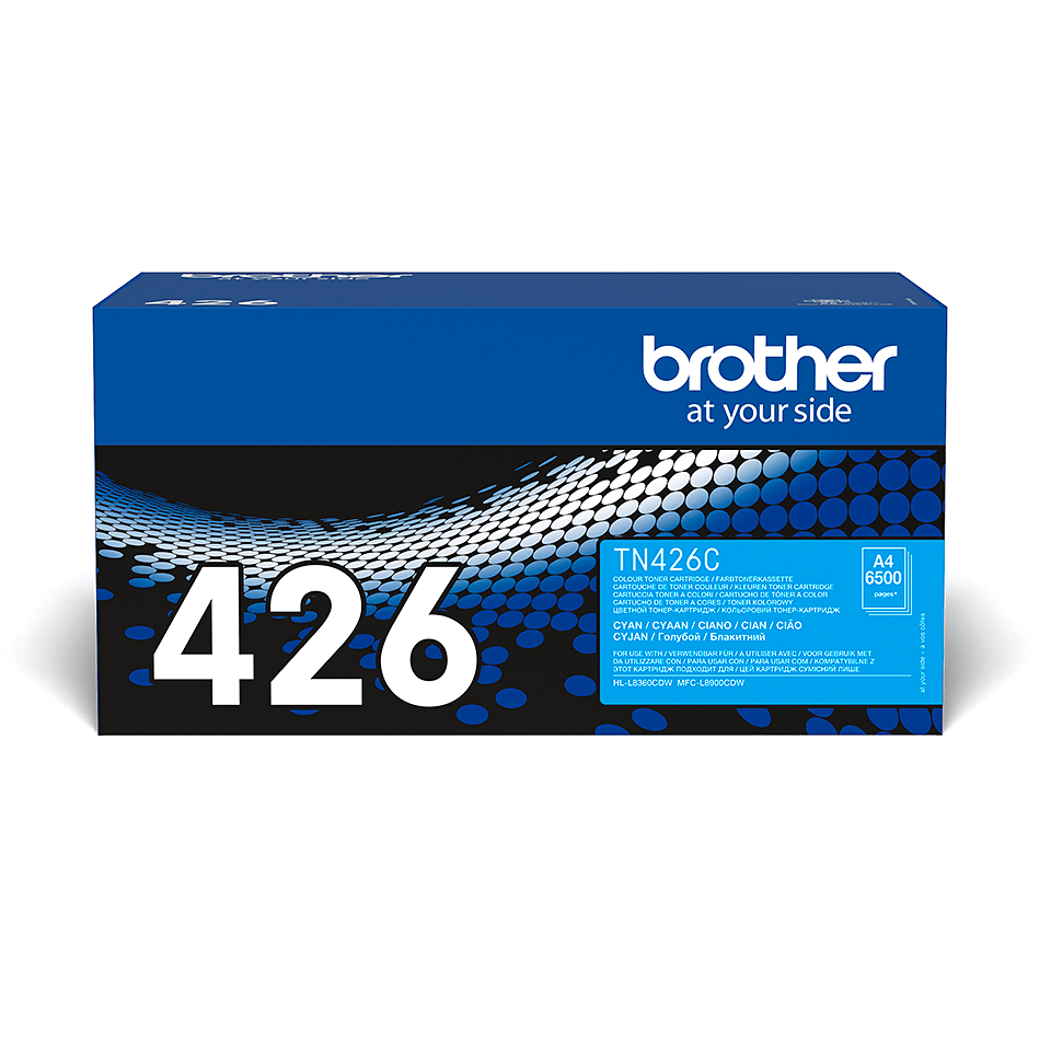 Brother original TN426C tonerkassett – cy
