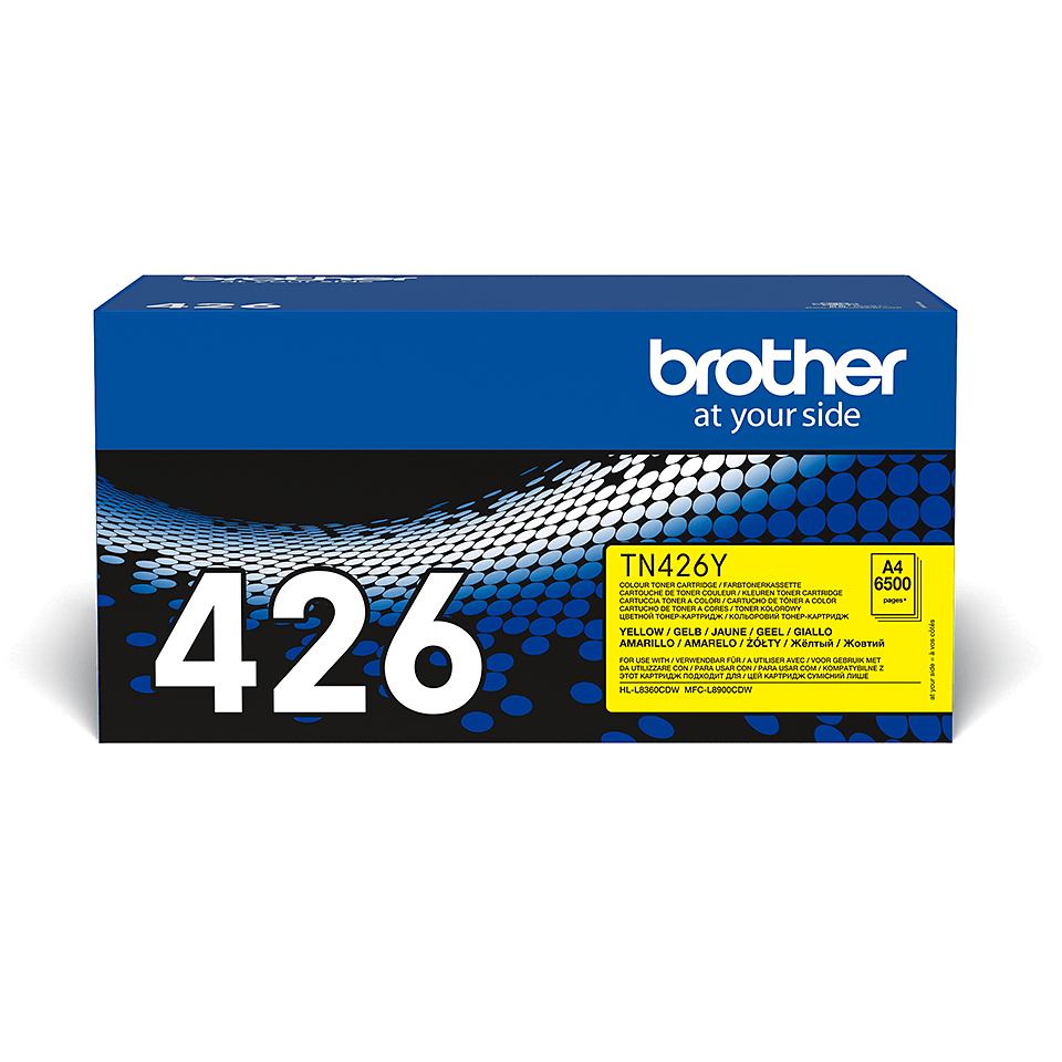 Brother original TN426Y tonerkassett – gul 2