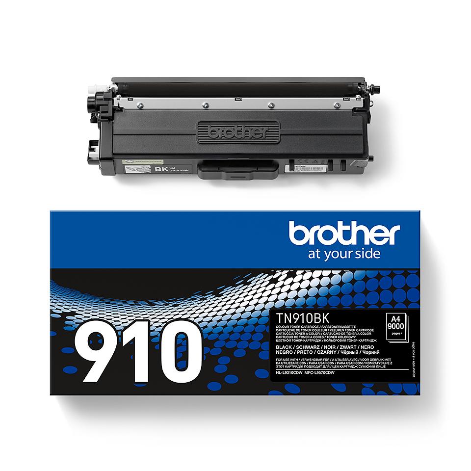 Brother original TN910BK tonerkassett – svart 2