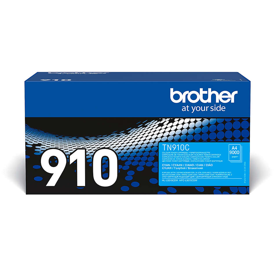 Brother original TN910C tonerkassett – cyan