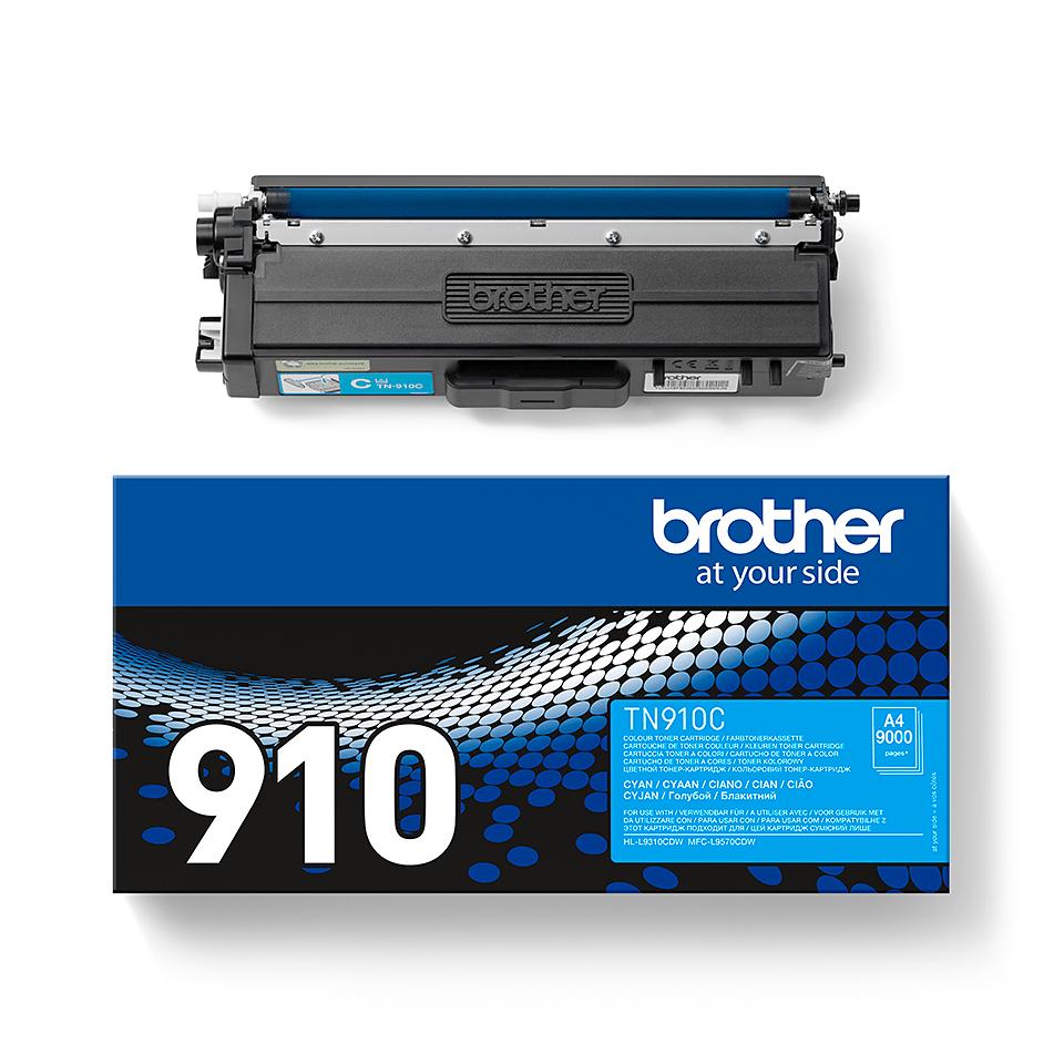Brother original TN910C tonerkassett – cyan 2