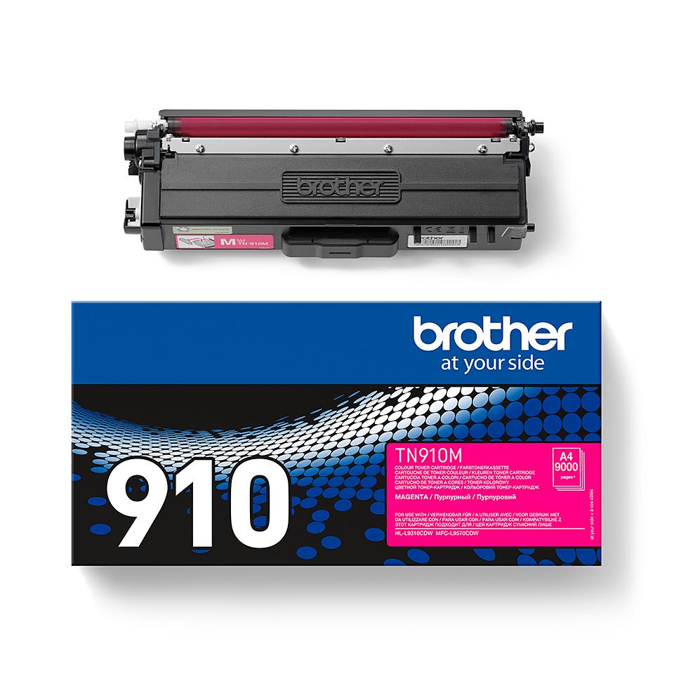 Brother TN-910M Tonerkassett - Magenta 1