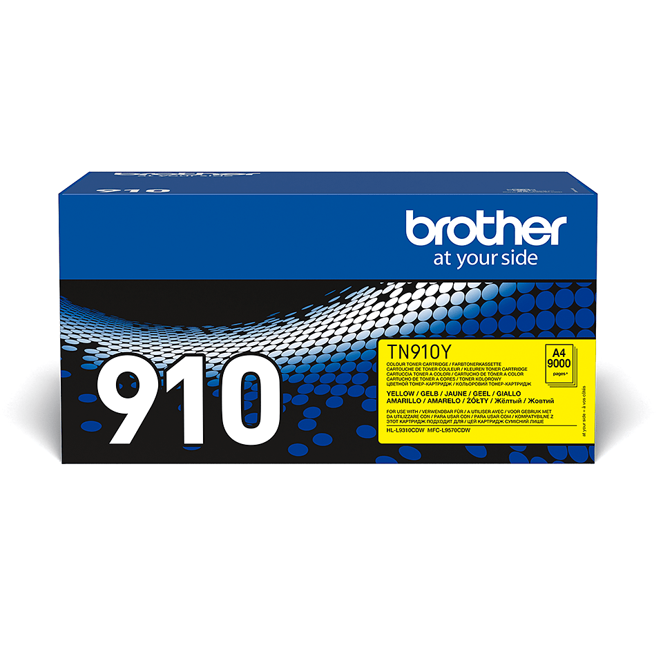 Brother original TN910Y tonerkassett – gul