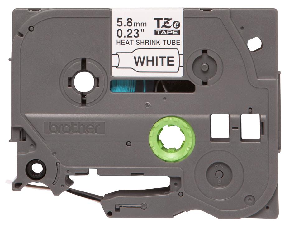 Brother HSe-211 original krympslang - svart på vit, 5,8 mm bred