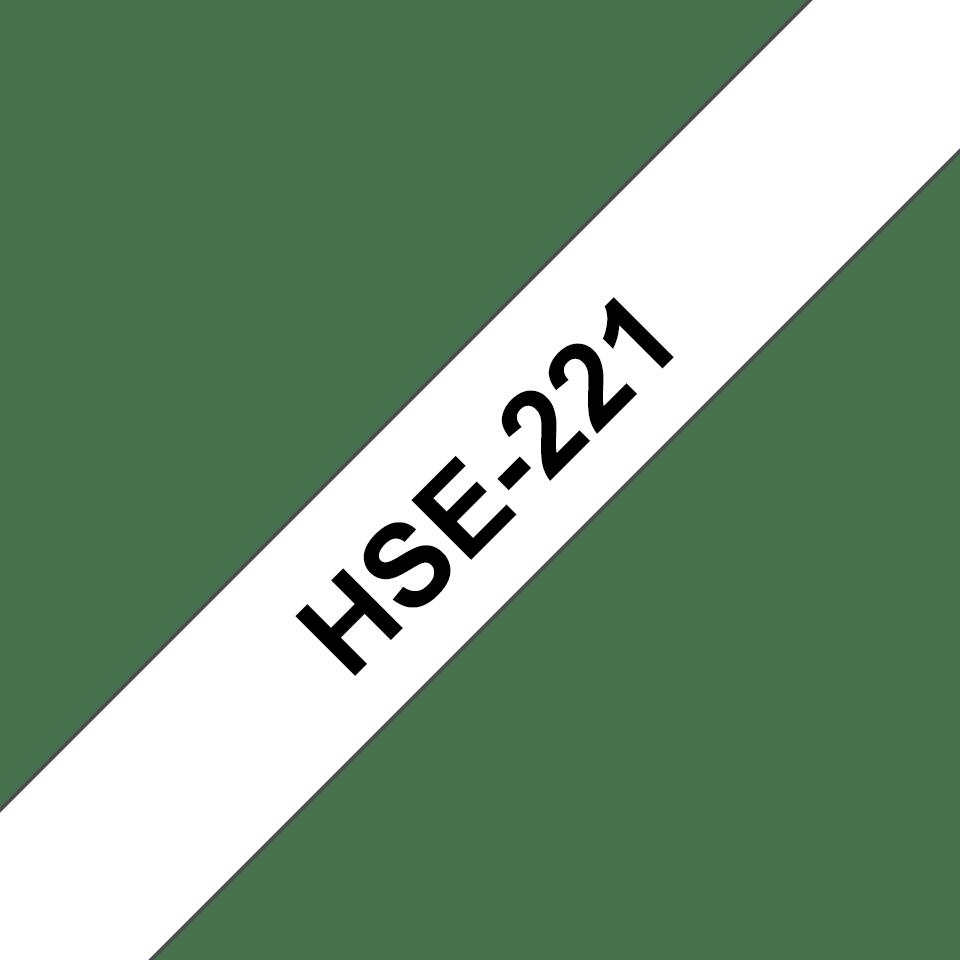 Brother HSE221 original krympslang - svart på vit, 8,8 mm x 1,5 m 3