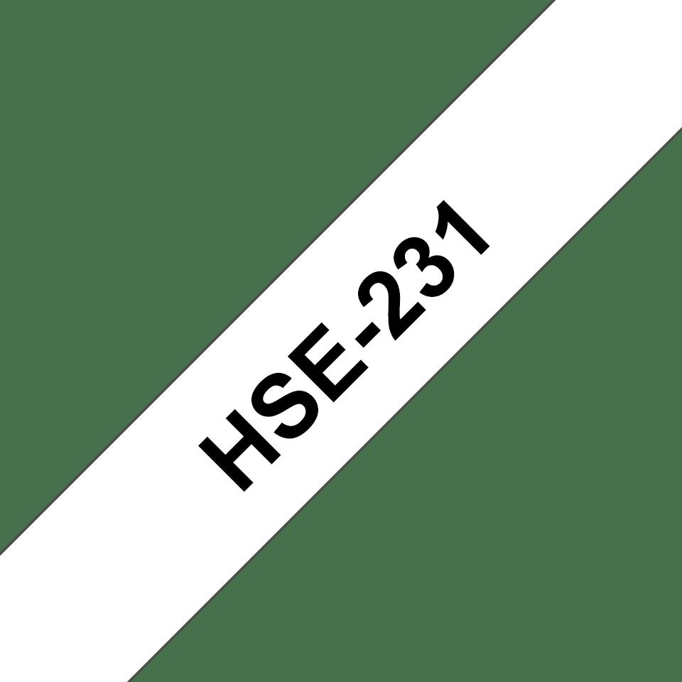 Brother HSe231 original krympslang, svart på vit, 11,7 mm 3