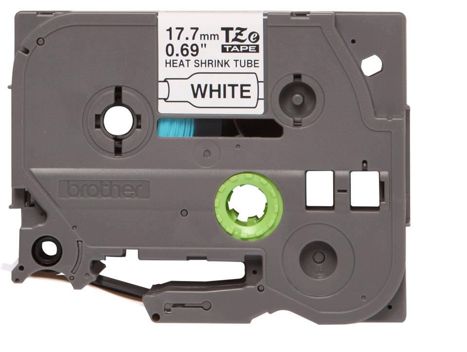 Brother HSe241 original krympslang, svart på vit, 17,7 mm