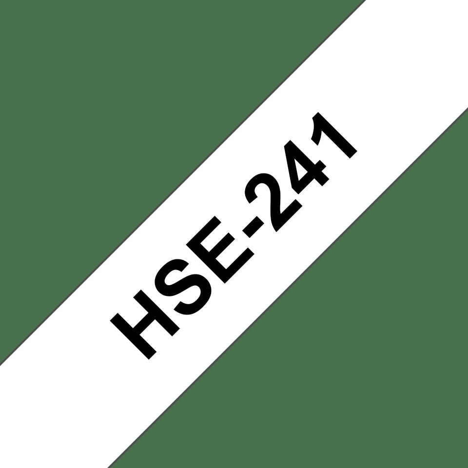 Brother HSe241 original krympslang, svart på vit, 17,7 mm 3