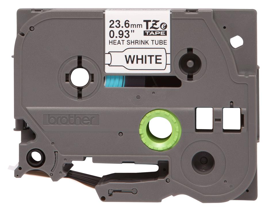 Brother HSe251 original krympslang, svart på vit, 23,6 mm