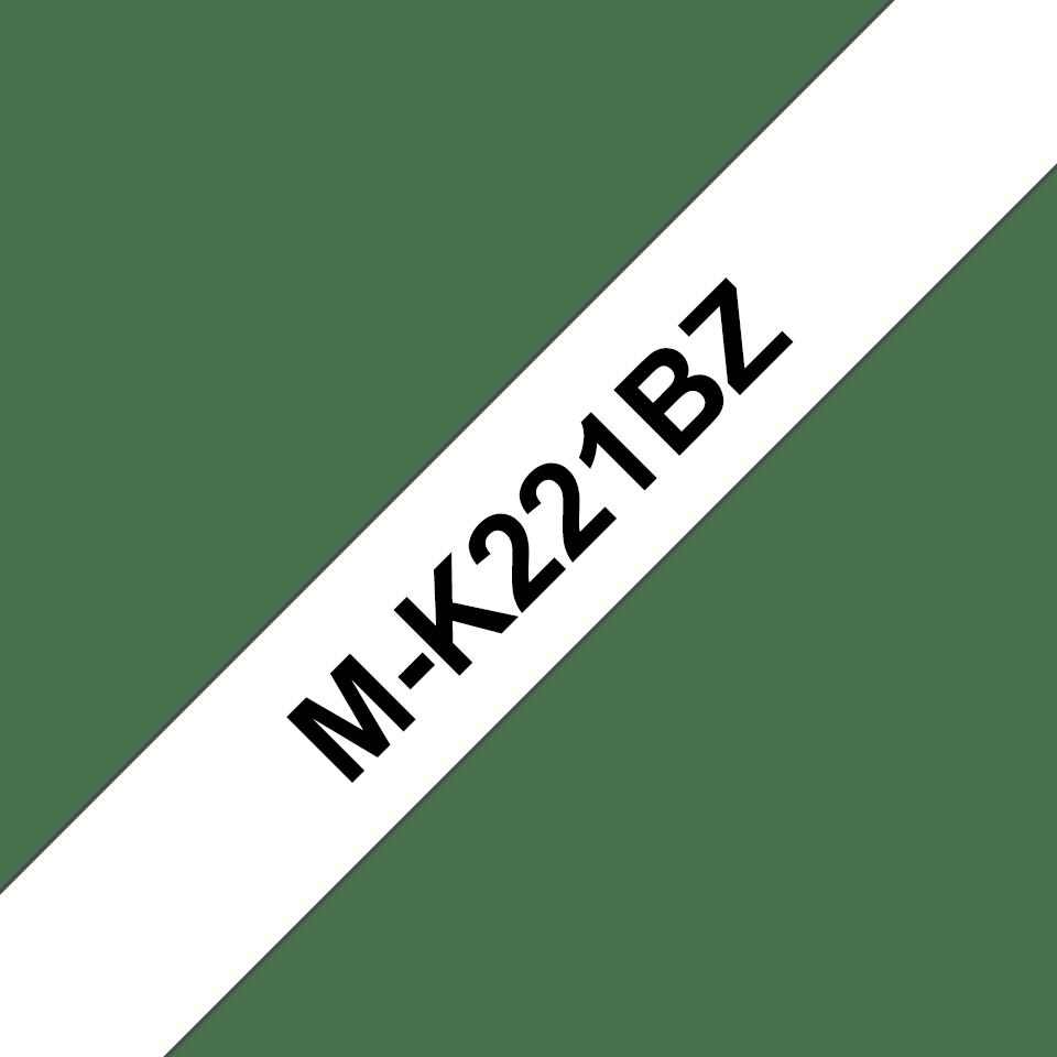 Brother original M-K221BZ M-tape – svart på vit, 9 mm bred