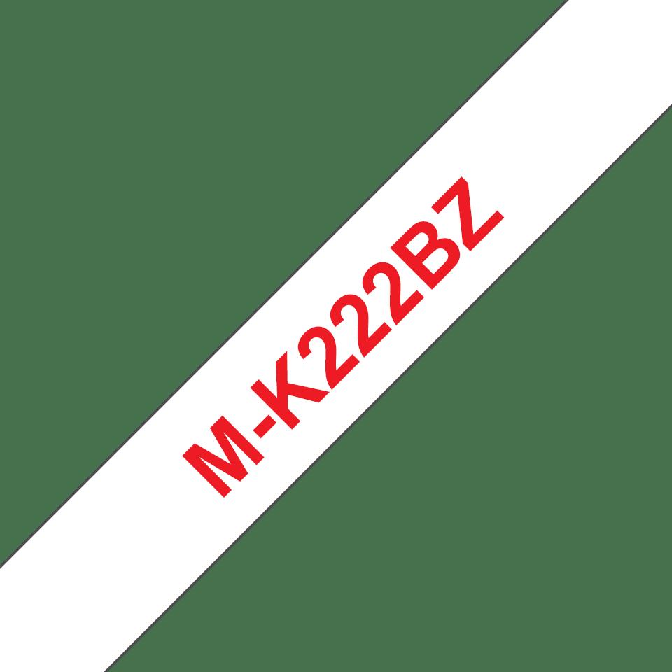 Brother MK222BZ original M-tape, röd på vit, 9 mm