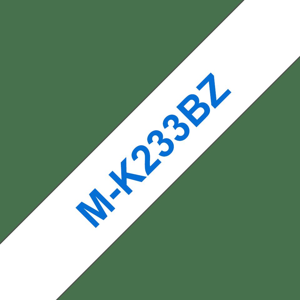 Brother MK233BZ original M-tape, blå på vit, 12 mm