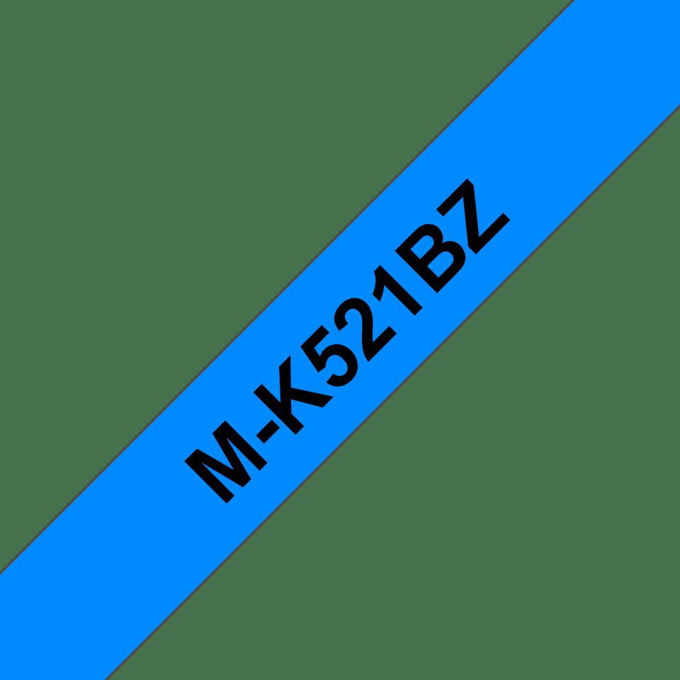 Brother MK521BZ original M-tape, svart på blå, 9 mm