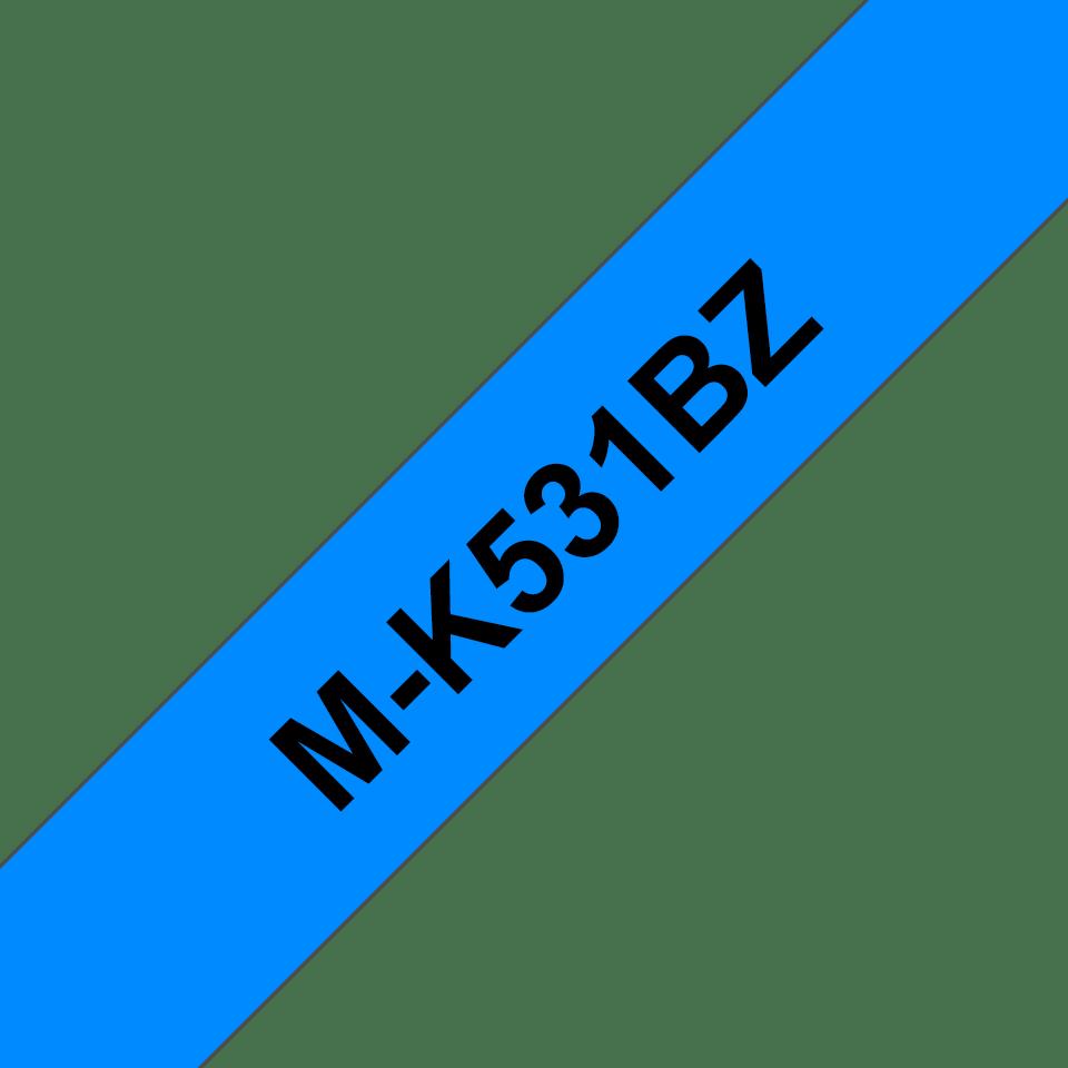 Brother MK531BZ original M-tape, svart på blå, 12 mm