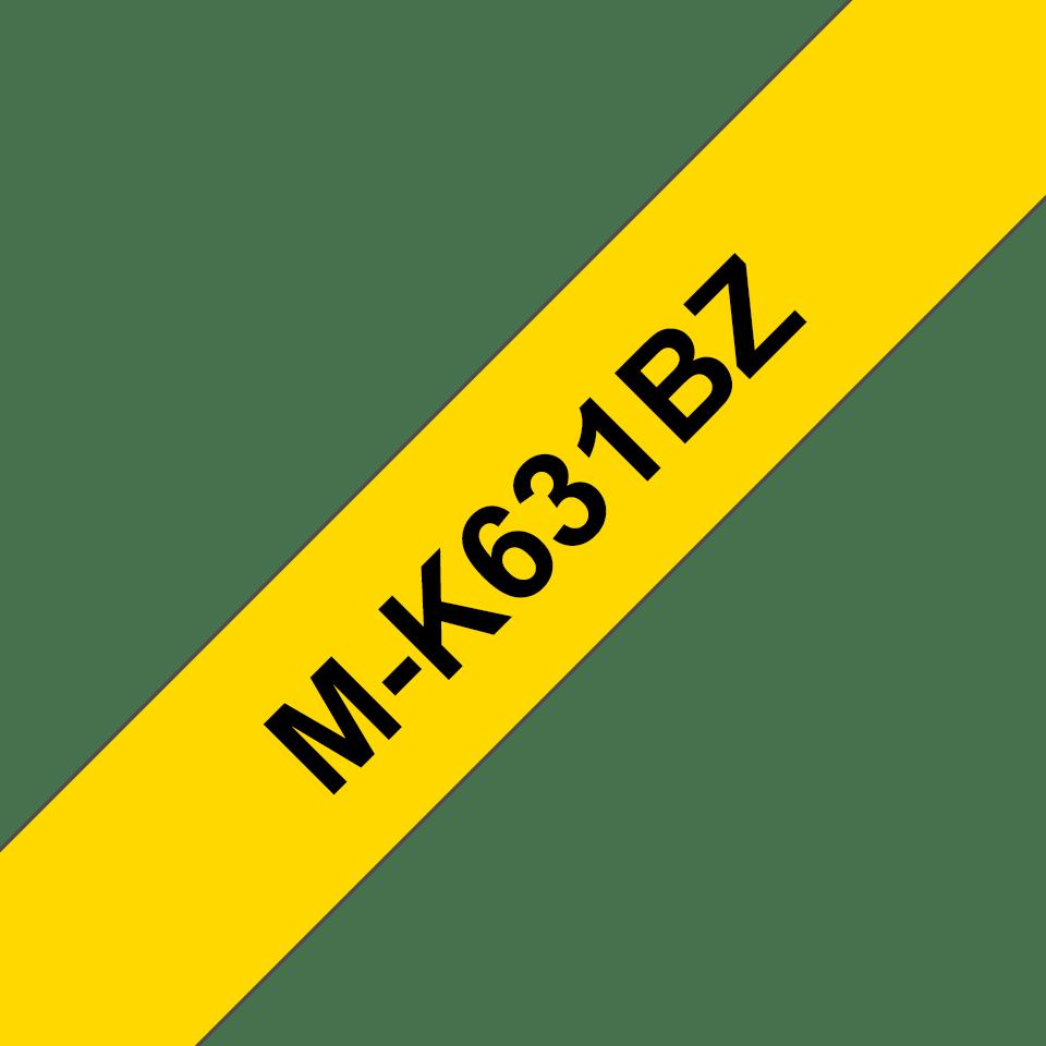 Brother MK631BZ original M-tape, svart på gul, 12 mm