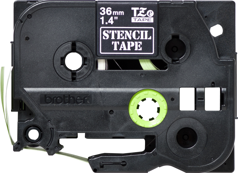Brother STe161 original stenciltape, svart, 36 mm 2
