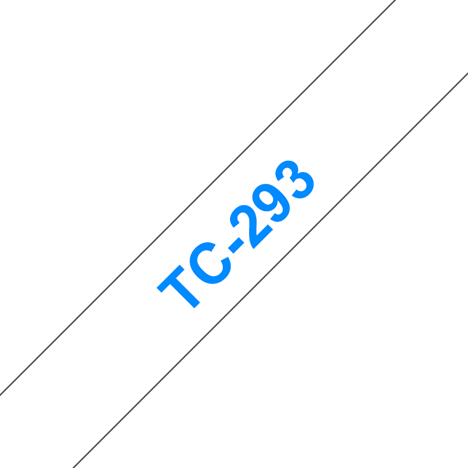 Brother original TC293 etikettape– blå på vit, 9 mm