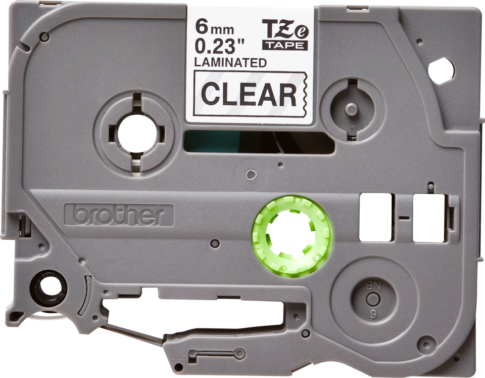 Brother original TZe111 tapekassett – svart på genomskinlig, 6 mm