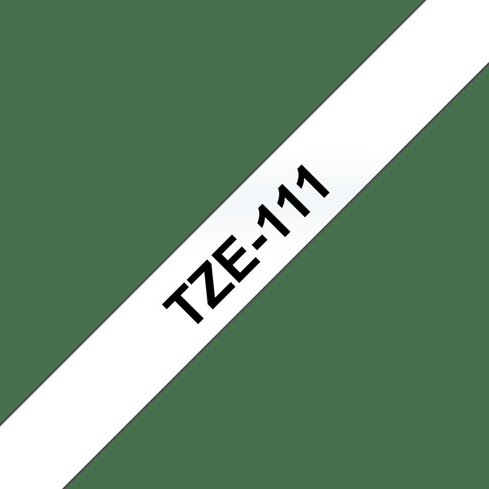 Brother original TZe111 tapekassett – svart på genomskinlig, 6 mm  3