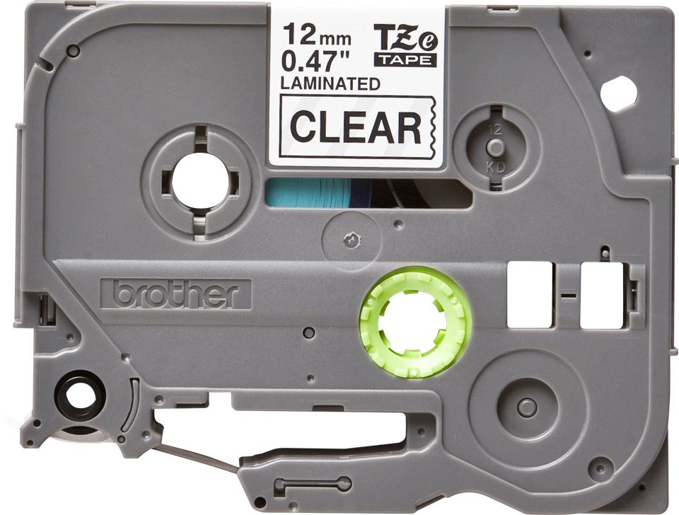 Brother TZe-131 original etikettape- svart på genomskinlig, 12 mm bred