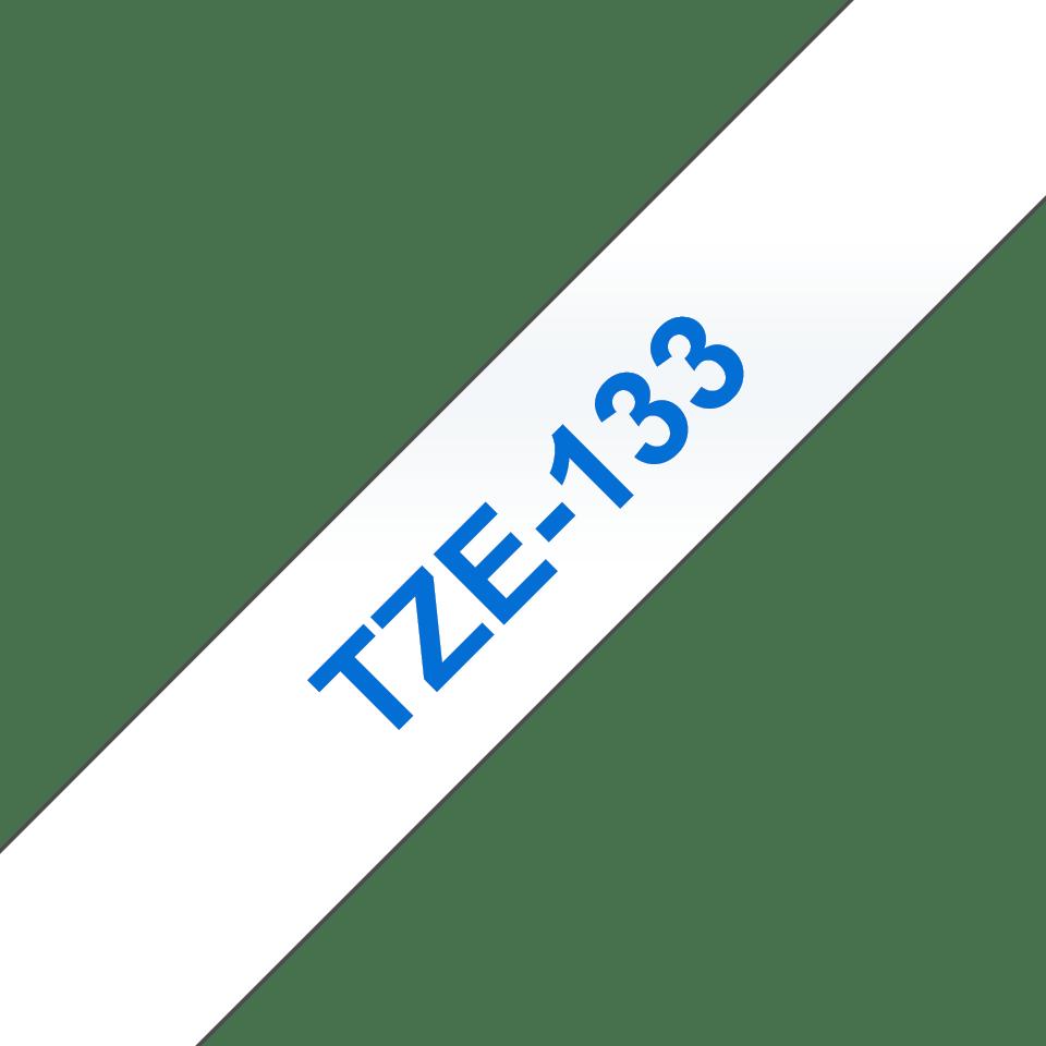 Brother TZe133 original etikettape blå på genomskinlig, 12 mm. 3