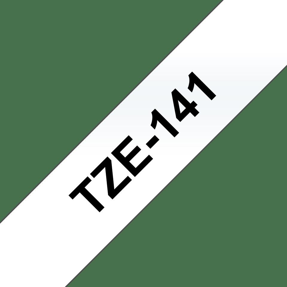 Brother TZe141 original etikettape, svart på genomskinlig, 18 mm  3