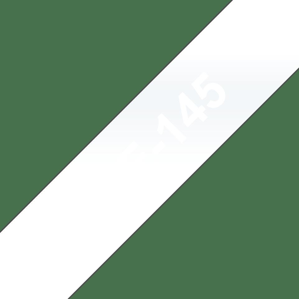 Brother TZe145original etikettape, vit på genomskinlig, 18 mm  3