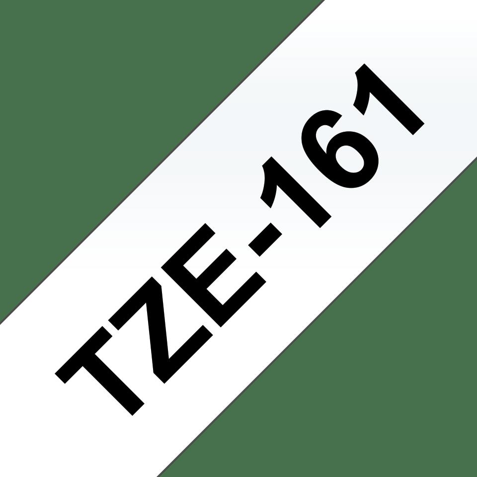 Brother TZe161 original etikettape, svart på genomskinlig, 36 mm  3