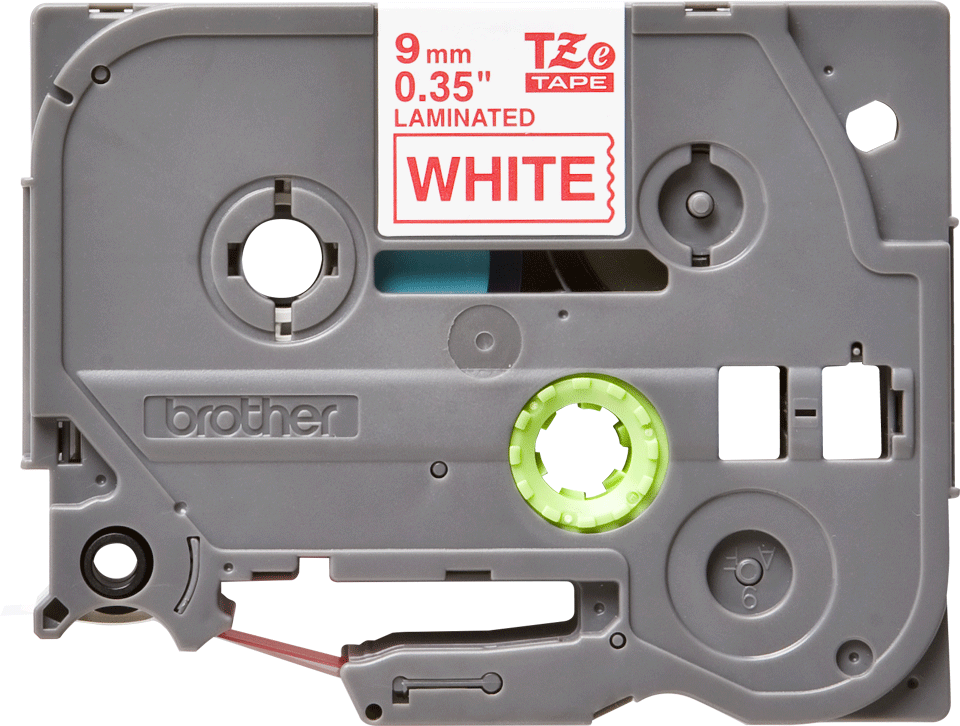 Brother TZe222 original etikettape, röd på vit, 9 mm