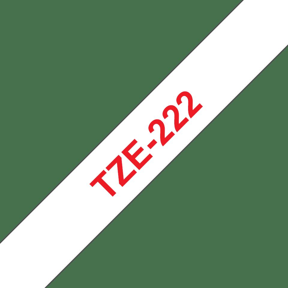 Brother TZe222 original etikettape, röd på vit, 9 mm  3