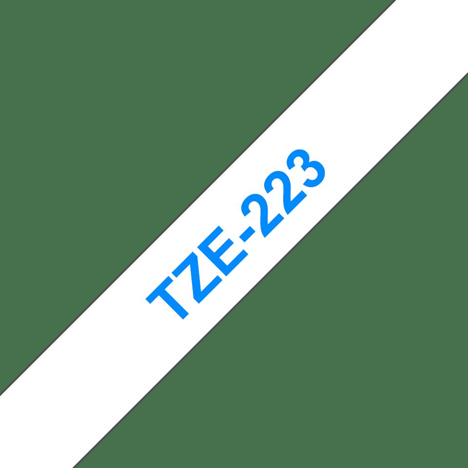Brother TZe223 original etikettape, blå på vit, 9 mm  3