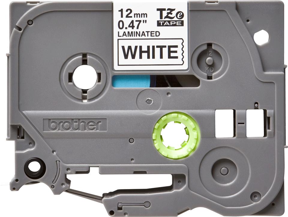Brother TZE-231 original etikett tapekassett- Svart på vit laminerad tape, 12 mm bred