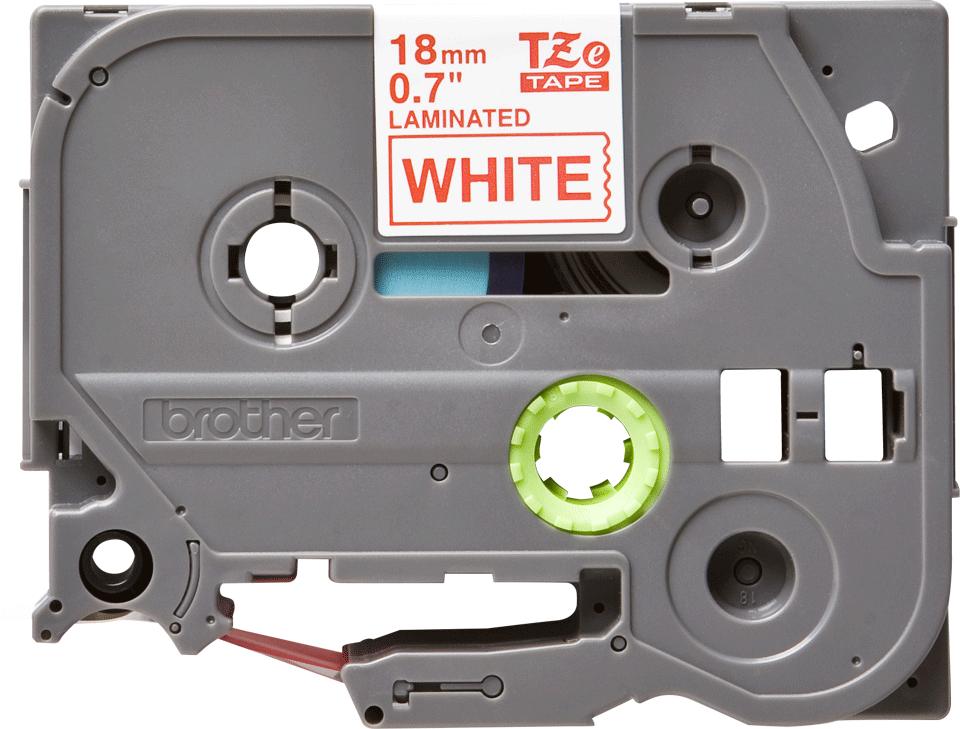 Brother TZe242 etikettape, röd på vit – 18 mm